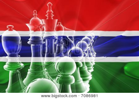 Flag Of Gambia Wavy Business Strategy