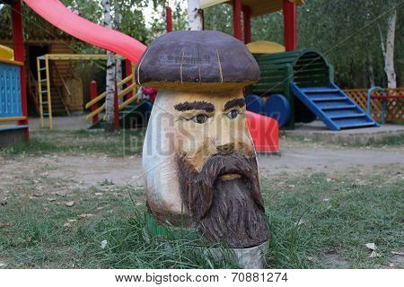 mushroom on the playground