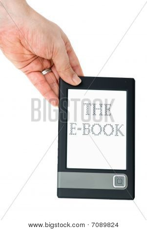 Hand Hold E-book Reader