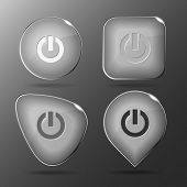 Switch element. Glass buttons. Vector illustration. poster