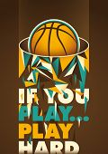 Conceptual basketball poster. Vector illustration. poster