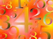 Numbers background with digits in  random manner poster