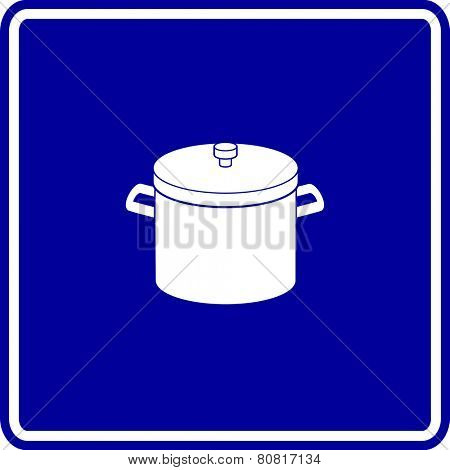 stockpot with lid sign