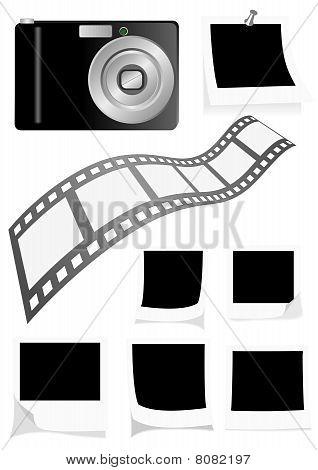 Photo elements isolated on white background