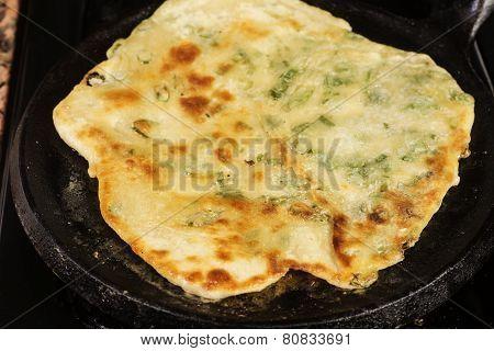 Browned pancake