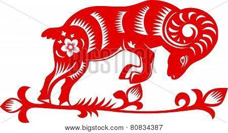 Goat. Chinese Year 2015.