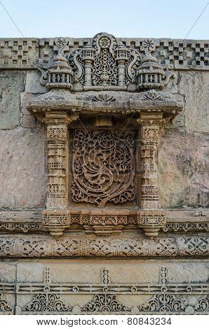 Vintage Crafted At Adalaj Stepwell In Ahmedabad, Gujarat, India