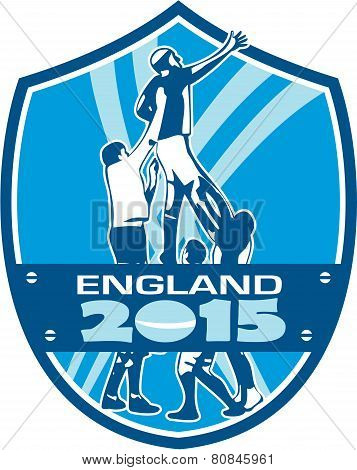 Rugby Lineout England 2015 Shield