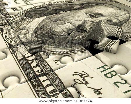 Jigsaw puzzle US dollar