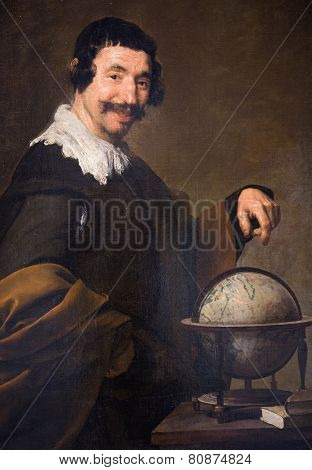 Democritus - Painting By Diego Velazquez (1640)
