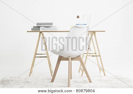 Modern Minimalist Desk And Chair