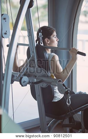 Cardio and fat loss workout in the gym.Sport and fitness,summer body goals