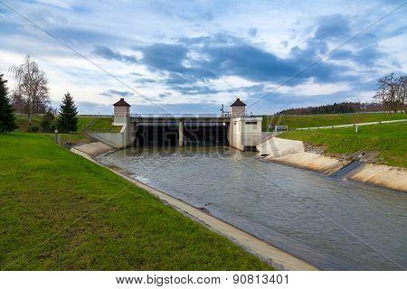 Dam on the river,Plzen, Czech Republic