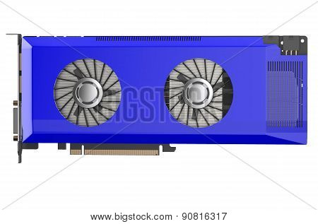 Blue Video Card