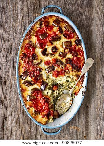 Rustic Italian Baked Vegetable Ragu With Spinach Polenta