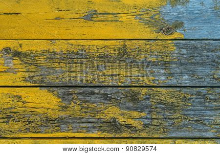old wooden yellow wall