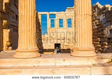 Erechtheum temple in Acropolis