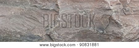 Grey Rock Panoramic Background Texture