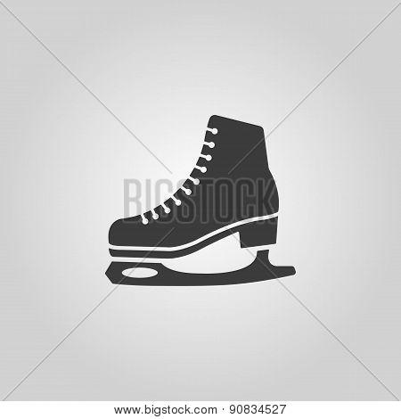The Skates Icon. Figure Skates Symbol. Flat