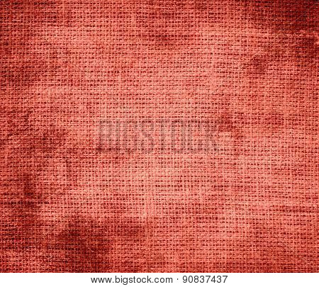 Grunge background of bittersweet burlap texture