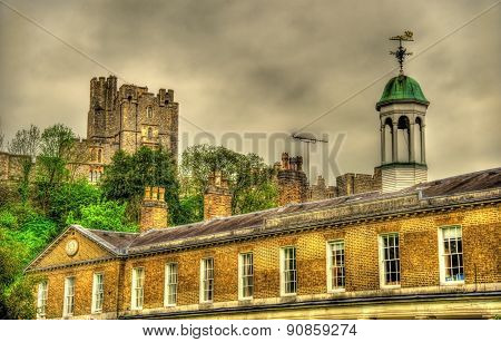 View Of Windsor Castle Over St George's School - England