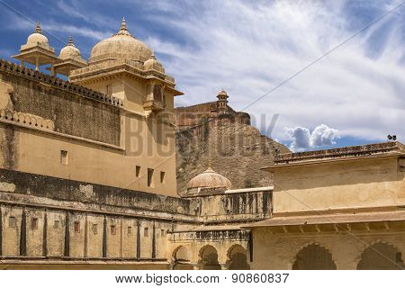 Palace of the Amber Fort near Jaipur Rajasthan India poster