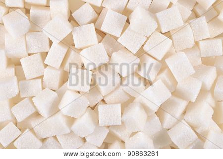 Refined sugar as background texture close up poster