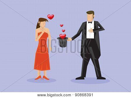 Magician Romantic Surprise Proposal With Magic Tricks