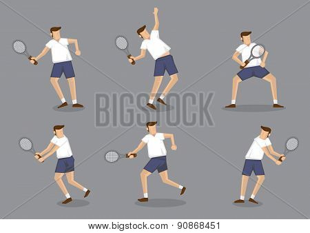 Tennis Player Character Vector Illustration