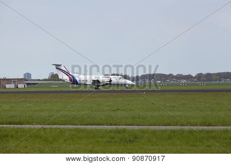 Amsterdam Airport Schiphol - Embraer 120 Of Swiftair Lands