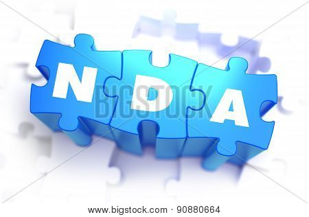 NDA - Text on Blue Puzzles.