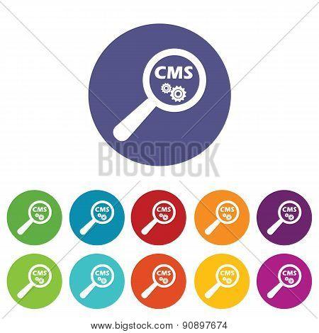 CMS search icon set