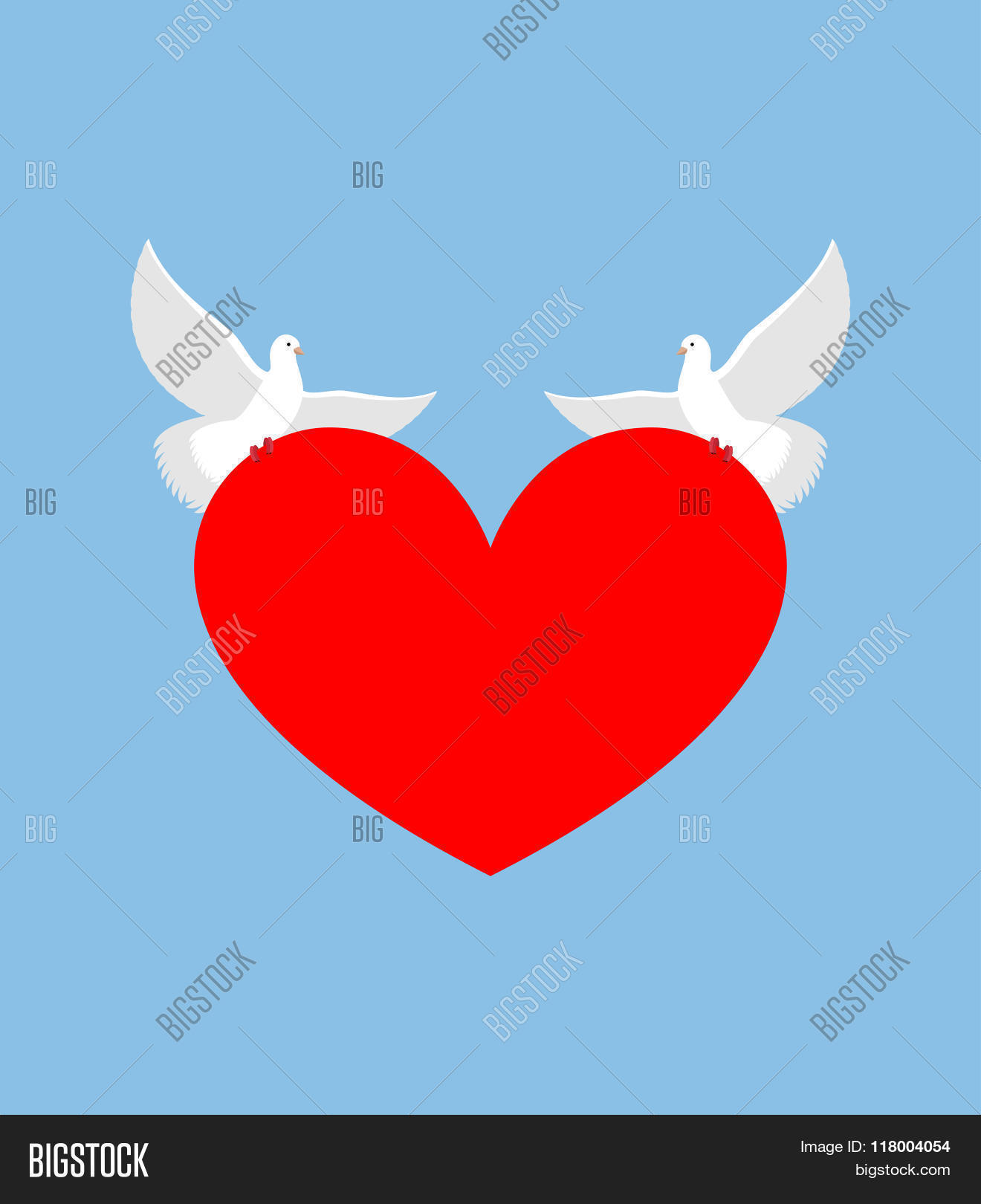 White dove holds heart two white vector photo bigstock two white bird is symbol of purity red heart symbol biocorpaavc