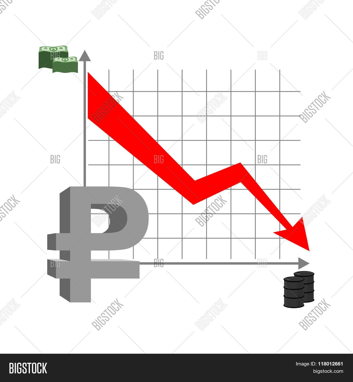 Graph Fall Ruble Vector Photo Free Trial Bigstock