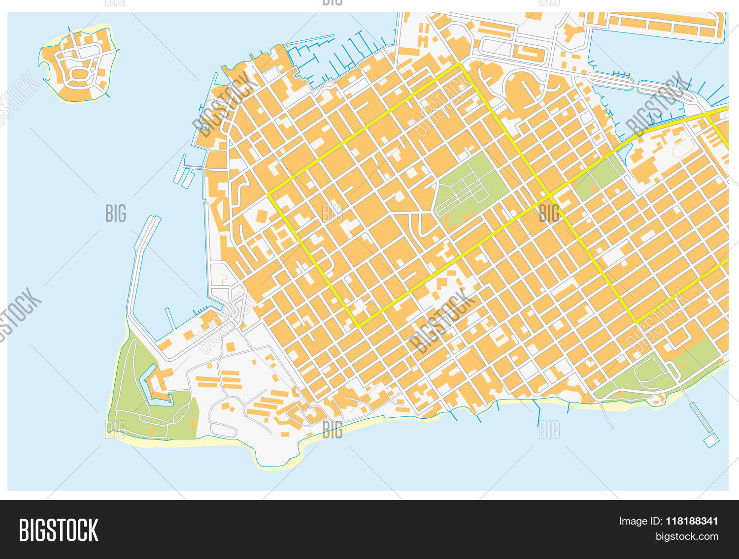 Key West Road Map Vector & Photo (Free Trial) | Bigstock