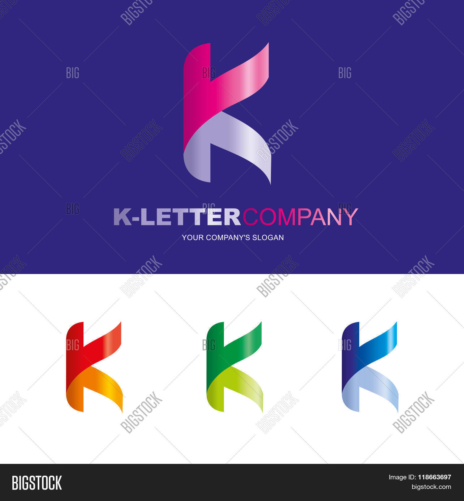 K letter vector vector photo free trial bigstock k letter vector logo design concept illustration abstract k letter logo sign for business spiritdancerdesigns Gallery