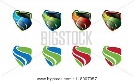 Security Guard Logo Design Vector. Security Protection Shield Symbol . Secure Shield Icon Vector.