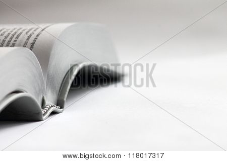 Book On A White Background. Bible