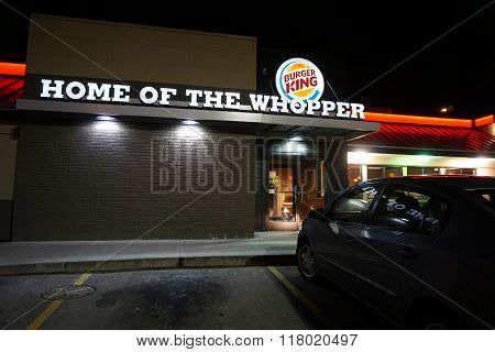 Burger King at Night