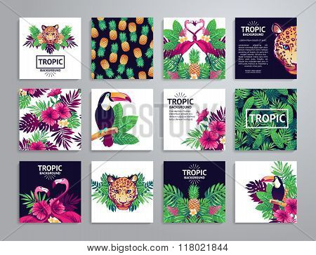 Tropical printable set.