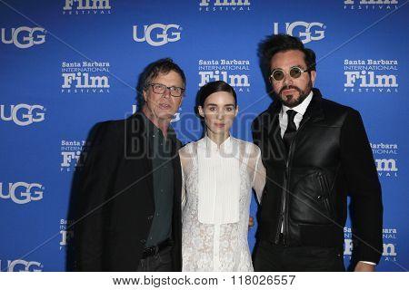 SANTA BARBARA - FEB 12:  Todd Haynes, Rooney Mara, Roger Durling at the 31st Santa Barbara International Film Festival - Cinema Vanguard Award on February 12, 2016 in Santa Barbara, California