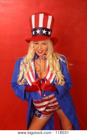 entertainer mary carey as the patriotic girl poster