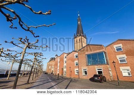 St Lambertus Church Is Roman Catholic Church In Dusseldorf Historic Center In Dusseldorf, Germany.