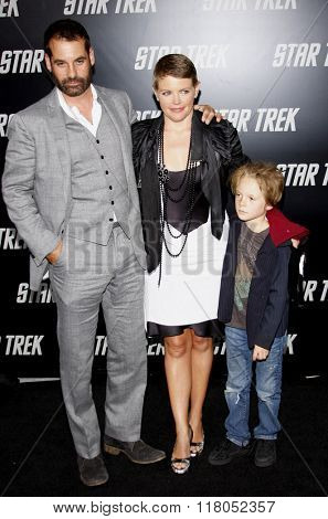 Adrian Pasdar and Natalie Maines at the Los Angeles Premiere of