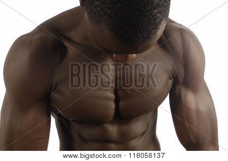 Pectoral of a muscular Man