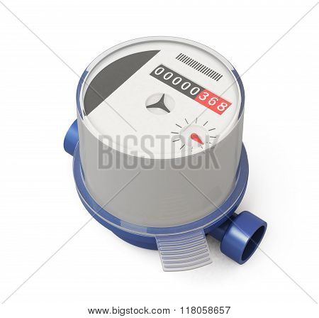 Water Meter On A White