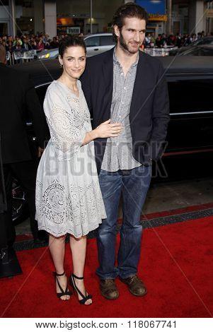 Amanda Peet and David Benioff at the Los Angeles Premiere of