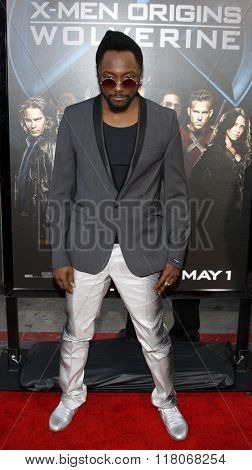 Will.i.am of The Black Eyed Peas at the Los Angeles Premiere of