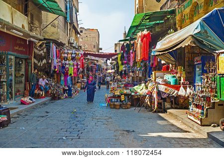 The Bazaar In Islamic Cairo