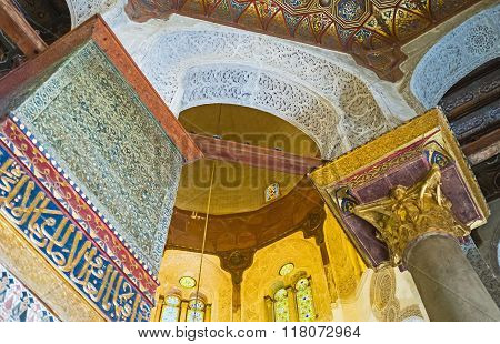 The Interior Of Qalawun Mausoleum